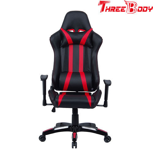 Professional Racing Seat Office Chair , Black And Red Pc World Gaming Chair