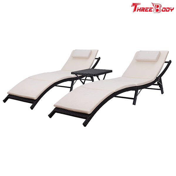 Recliner Outdoor Patio Lounge Chairs Adjustable Back Folding and Portable Design