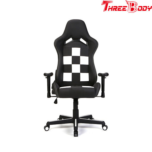 PU Leather Seat Gaming Chair With Wide Armrests High Loading Capacity 350lbs