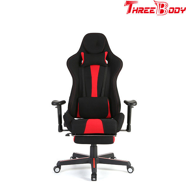 Reclining breathable cushion chair with the footrest for gaming pc racing computer lounge