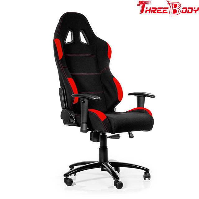 Big Loading Capacity Race Car Gaming Chair , Red And Black Computer Chair