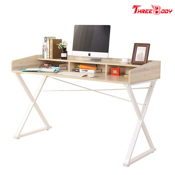 White Classical Modern Office Table Home Office Furniture  55L * 23.6W * 33.1H Inch
