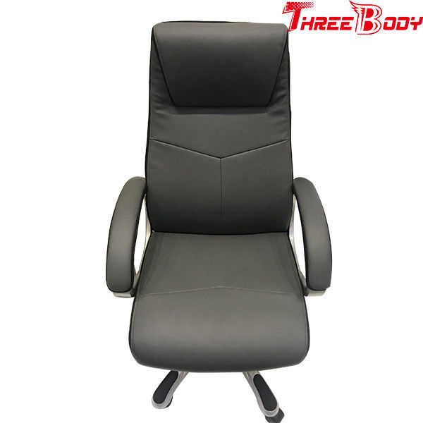 Black Executive Racing Office Chair With Footrest Loaded 1136kgs 360 Degree Swivel Wheel