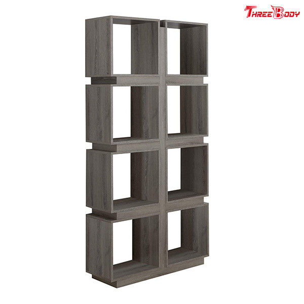 Modular Home Modern Office Furniture 71 Inch Dark Taupe Reclaimed Look Bookcase