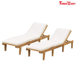 Lounge Chaise Outdoor Modern, Brow / Beige Patio Furniture Chaise Lounge