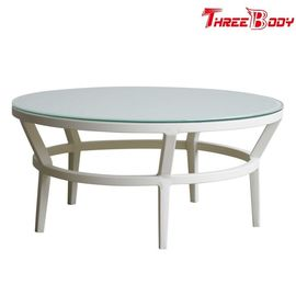 Mode Modern Round Outdoor Coffee Table, Backyard Patio Outdoor Meja Kopi