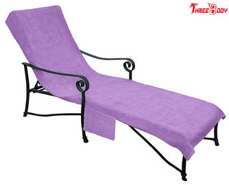 Purple Pool Outdoor Furniture Chaise Lounge, Desain Ergonomis di Luar Kursi Lounge